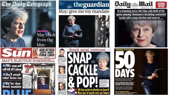 Theresa May - Snap General Election 8 June 2017